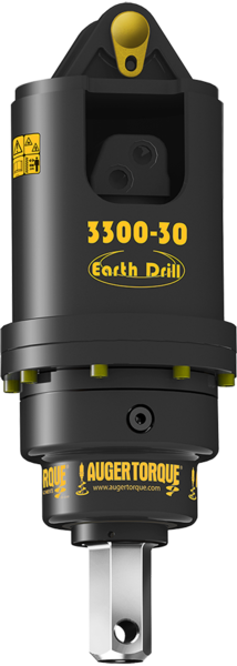 Auger Torque - S4 Range - Earth Drill - 3300-30. Auger drive or also called post hole borer. 2-inch HEX and 2.56-inch round output shaft options. 3300 Ft. lb. of torque and will accept a maximum of 30 GPM of hydraulic flow.