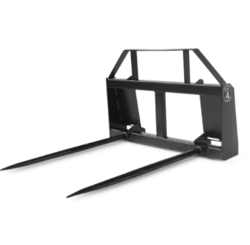 Construction Attachments - Extreme Duty Dual Bale Spear - Universal Mount